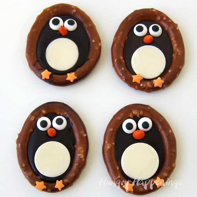 Dark Chocolate Pretzel Penguins