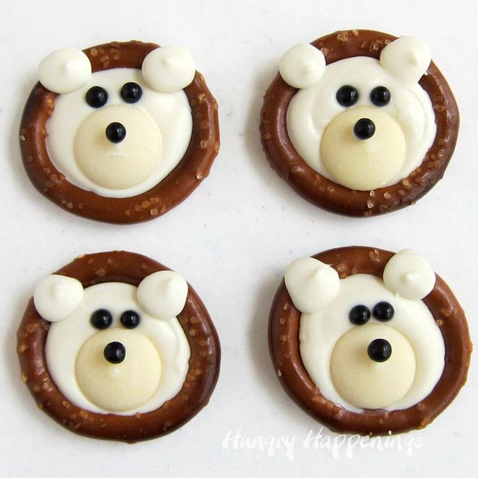 White Chocolate Polar Bear Pretzels