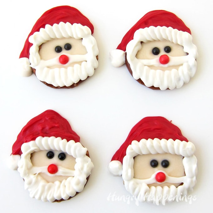 Santa Pretzels for Christmas