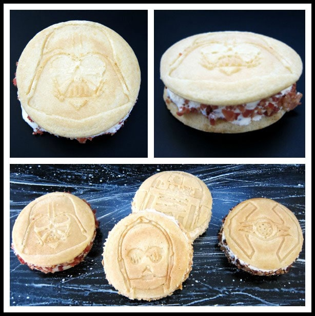 Pancake Ice Cream Sandwiches with Maple Ice Cream and Bacon