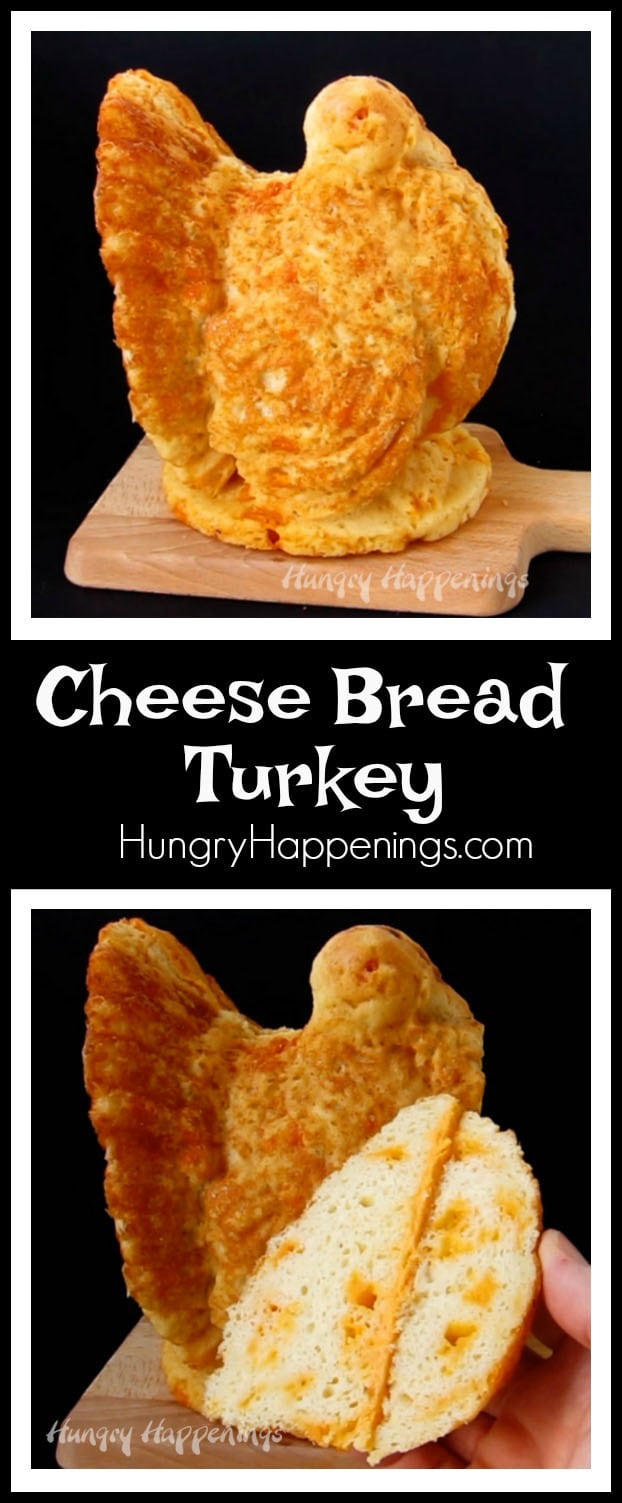 Want to really impress your family this Thanksgiving with a stunning loaf of bread? Make this soft and tender, three dimensional, Cheese Bread Turkey to place in the center of your dinner table. Everyone will be amazed!
