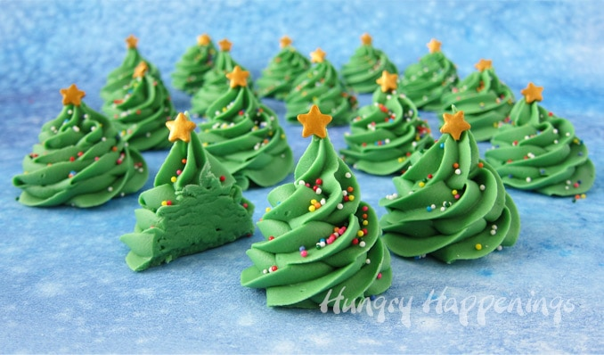 Creme de Menthe Fudge Christmas Trees Recipe