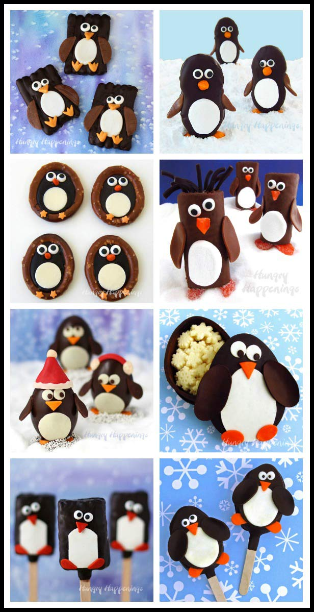 Penguin Food Crafts - Penguin Cookies, Pretzels, Chocolates, Truffles, and more!