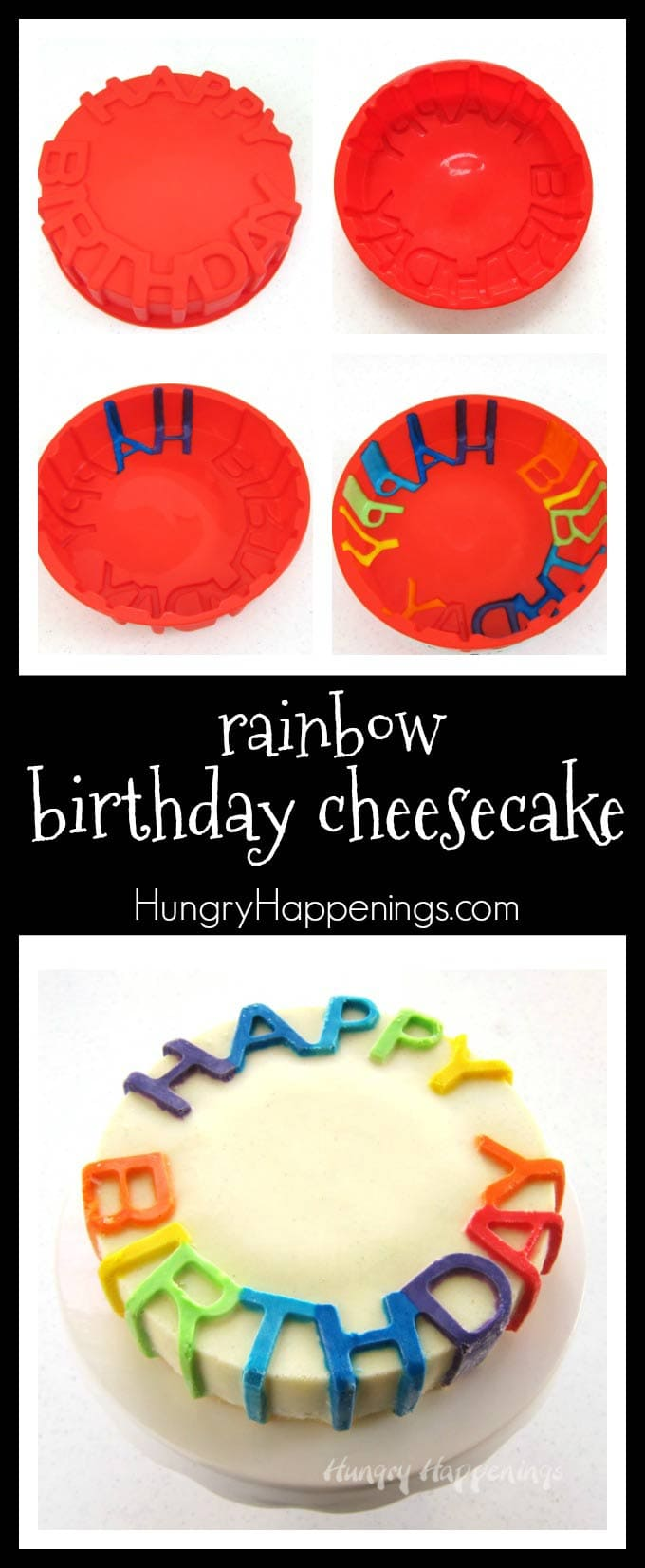 Celebrate another wonderful year of life with a colorful rainbow Birthday Cheesecake. This naturally gluten free dessert tastes so amazing that everyone at your party will be happy to indulge in a slice.