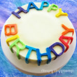 Rainbow Birthday Cheesecake