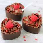 Chocolate Mousse Cup Hearts