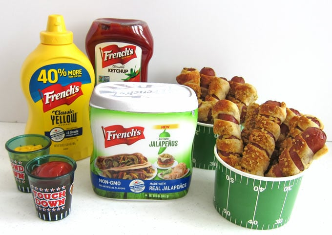 French's Crispy Jalapenos, Mustard, and Ketchup