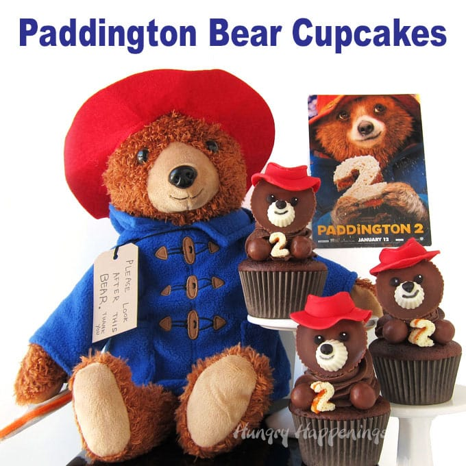 Peanut Butter Cup Paddington Bear Cupcakes