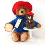Paddington Bear Cucpakes - Peanut Butter Cup Topped Chocolate Cupcakes
