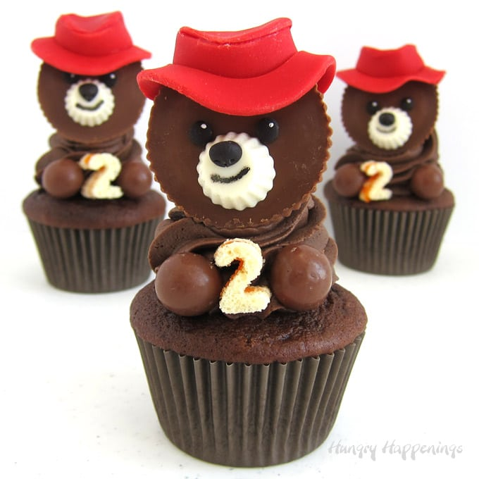 Chocolate Paddington Bear Cupcakes