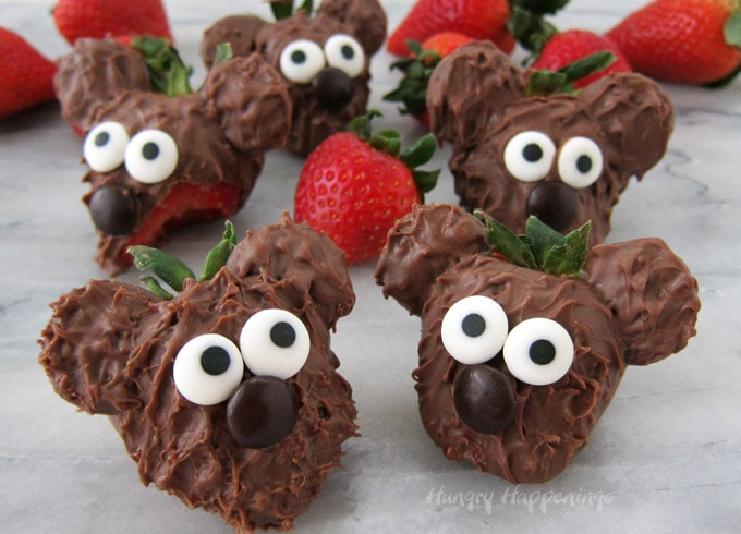 Valentine's Day Chocolate Strawberry Teddy Bears