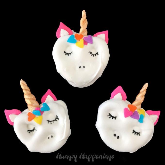 White Chocolate Pretzels - Pretzel Unicorns