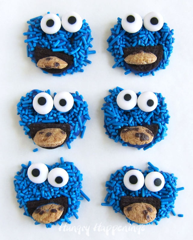 Chocolate Pretzels Cookie Monster Treats Sesame Street Party