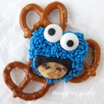 Cookie Monster Pretzels