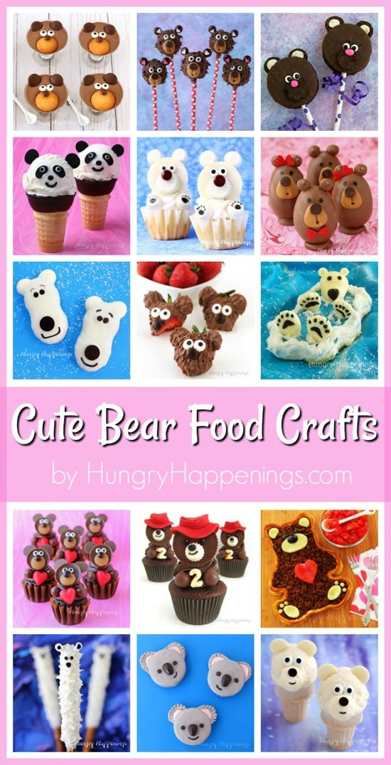 Cute Bear Themed Food Crafts for Valentine's Day, Christmas, Birthdays, and more!