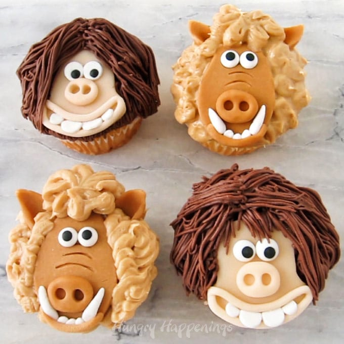 Early Man Movie Dug and Hognob Cupcakes