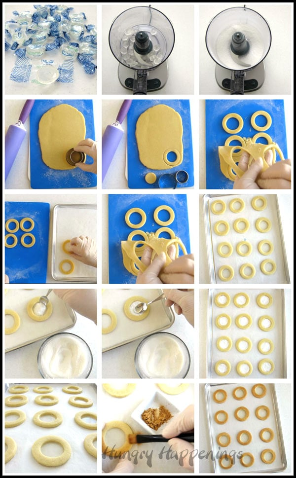 How to make magnifying glass cookies with clear candy class.