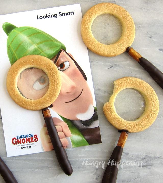 Sherlock Gnomes Magnifying Glass Cookies