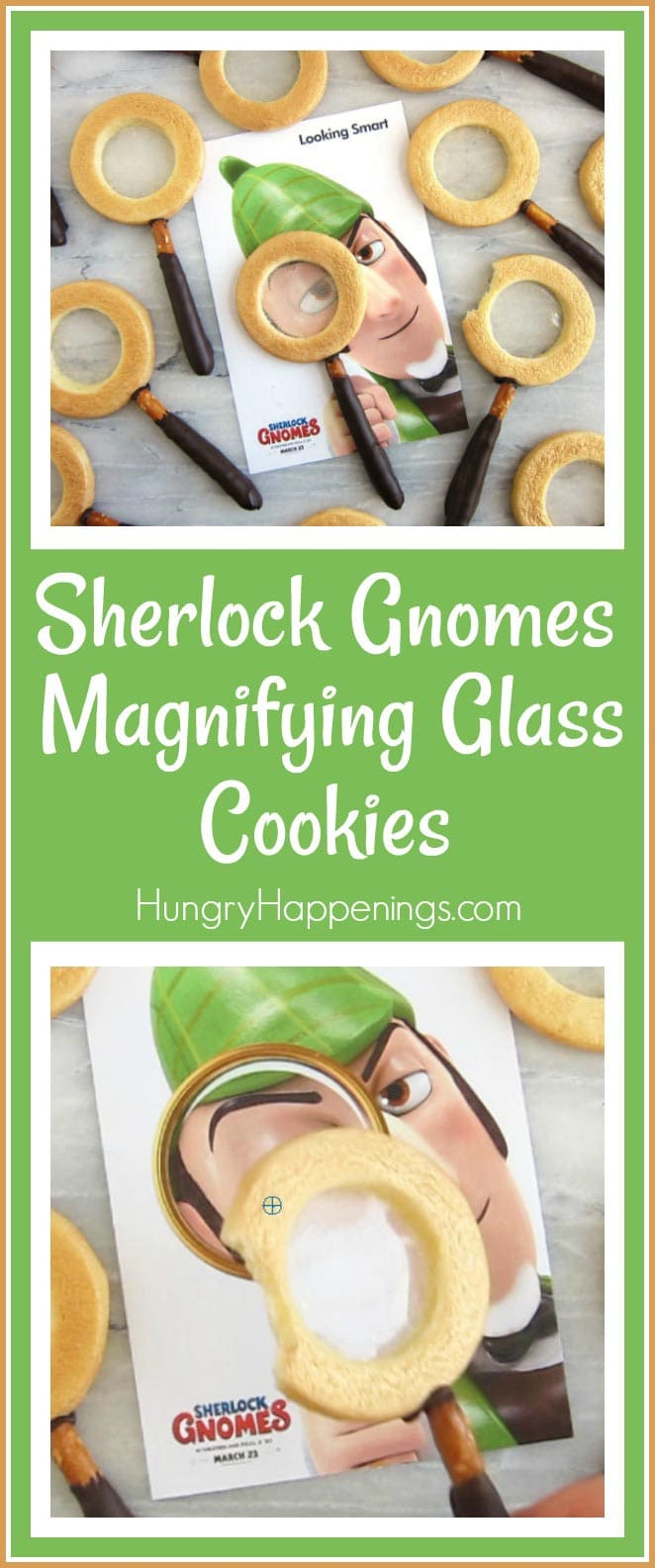 Sherlock Gnomes Movie Magnifying Glass Cookie Recipe