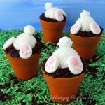 Bunny Butt Cupcakes in Silicone Flower Pots