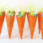 Carrot Candy Cups filled with Easter treats