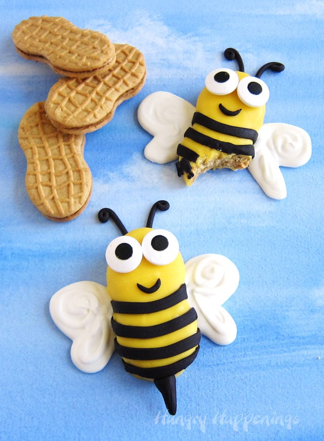 Decorated Nutter Butter Cookie Bees