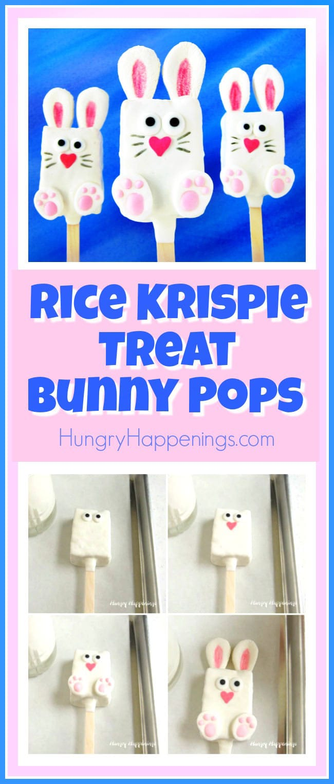 How to make Easter Rice Krispie Treat Bunnies