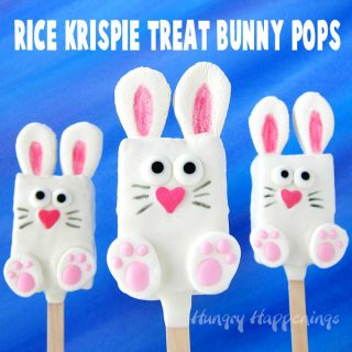 Rice Krispie Treat Bunny Pops for your Easter Baskets – Video