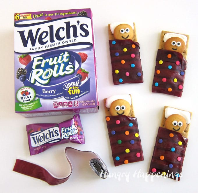 Welch's Fruit Rolls Sleeping Bag Cookies