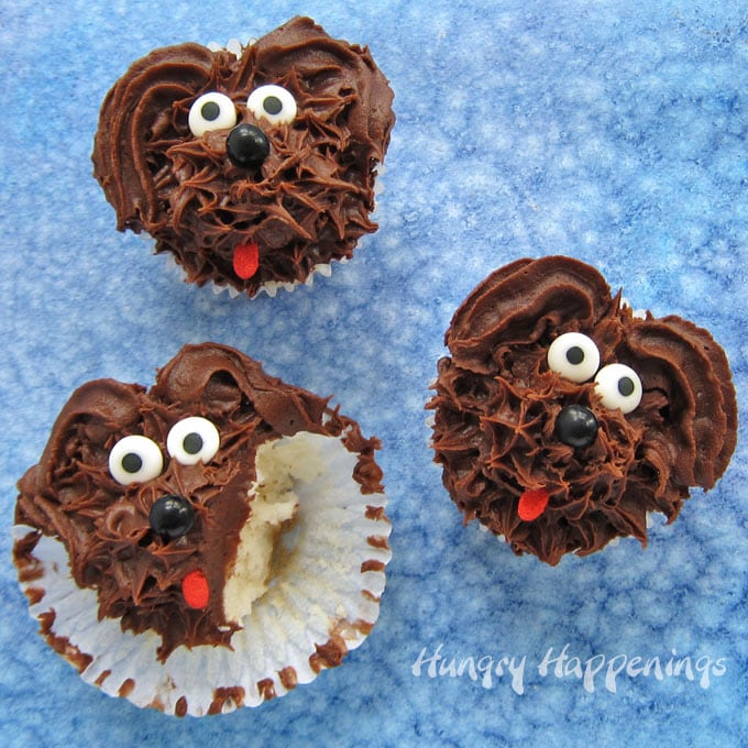 Chocolate Fudge Dog Cupcakes