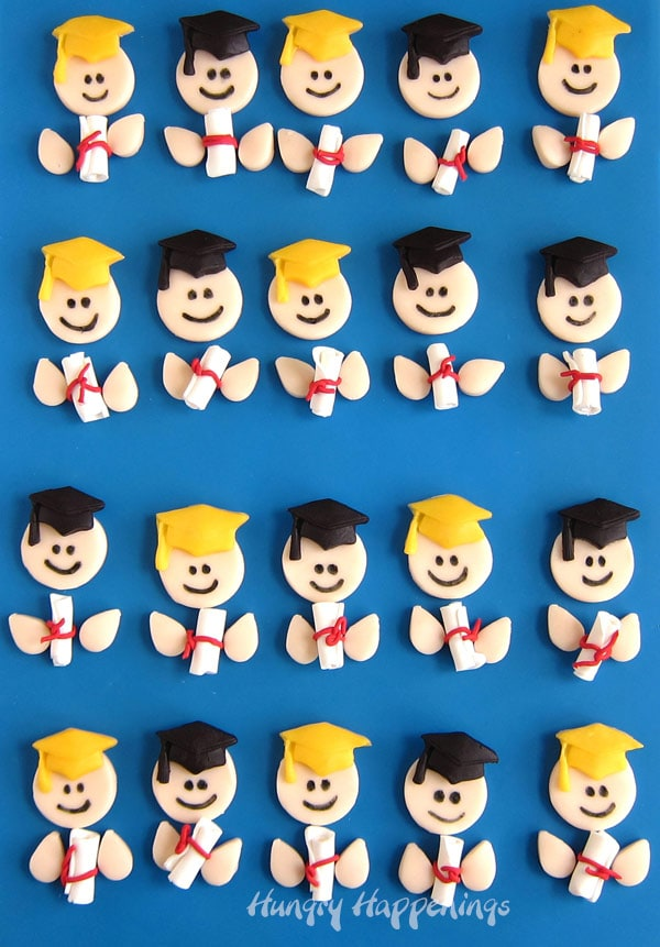 Modeling Chocolate Graduation Cupcake Toppers