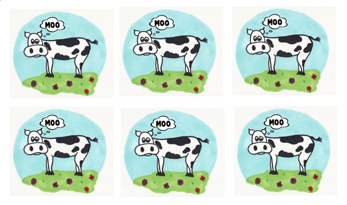 Cow labels printables