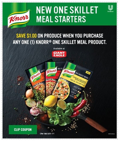 Knorr Skillet Meal Starters coupon