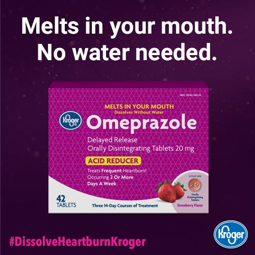 kroger omeprazole melts in your mouth