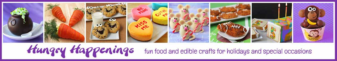 Hungry Happenings blog features fun food and edible crafts for holidays and special occasions.