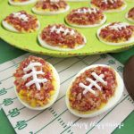 Deviled Egg Footballs Game Day Appetizer for a Super Bowl Party