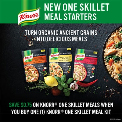 Knorr one skillet meals coupon