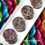 Sugar Skull Brownies for a Day of the Dead Party or Halloween Party