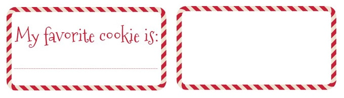printable cookie exchange voting ballots and name tags