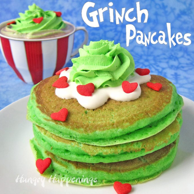 graphic regarding Ihop Printable Menu known as Copycat IHOP Grinch pancakes