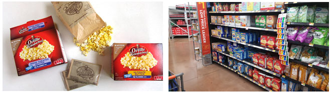 Orville Redenbacher's Popcorn available in the snack aisle at Walmart