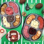Hillshire Social Snacking Platters on a football field table cloth