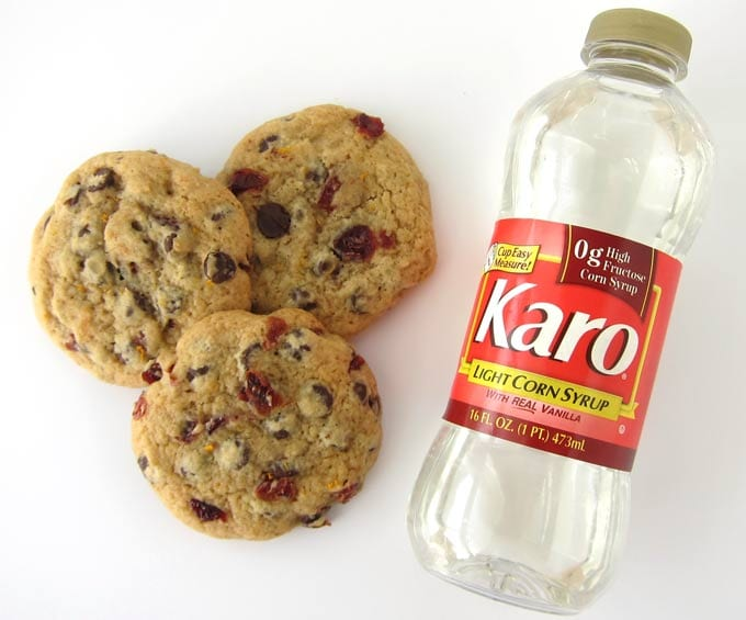 Use Karo Corn Syrup to make Chewy Cranberry Orange Chocolate Chip Cookies