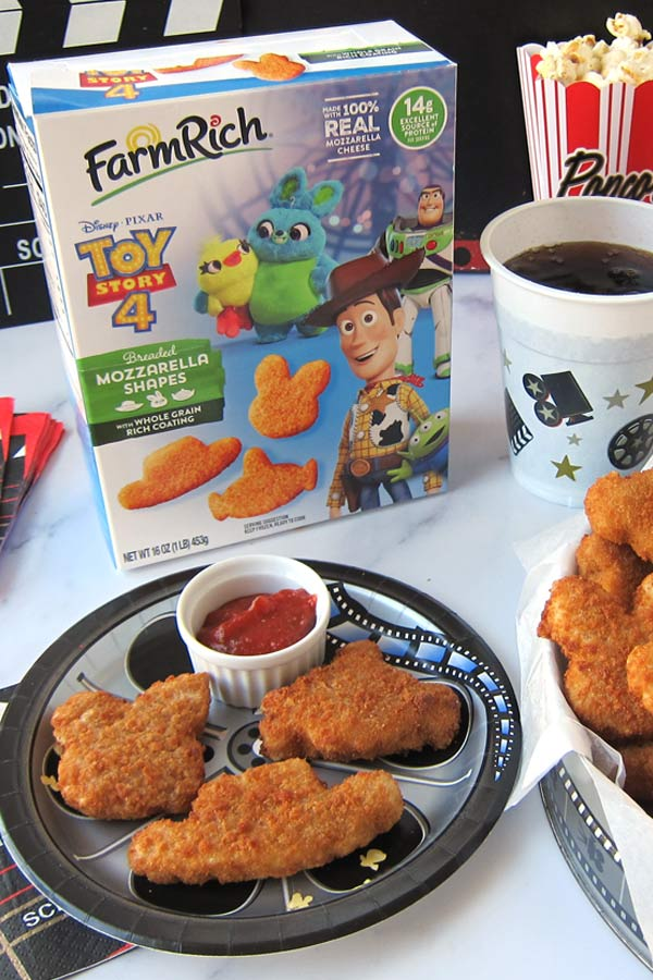 "Disney and Pixar ""Toy Story 4"" Mozzarella Shapes for your movie night"