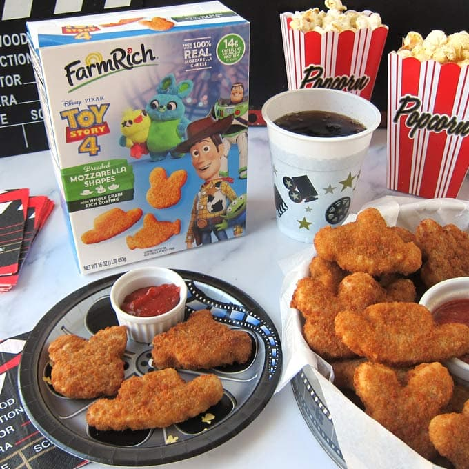 Movie night snacks from Farm Rich