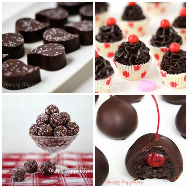 You can make these beautiful chocolates at home. Learn how to make Artisan Chocolates decorated with chocolate transfer sheets, Chocolate Truffle Cups, Rolled Chocolate Truffles, and Chocolate Cherry Bombs.