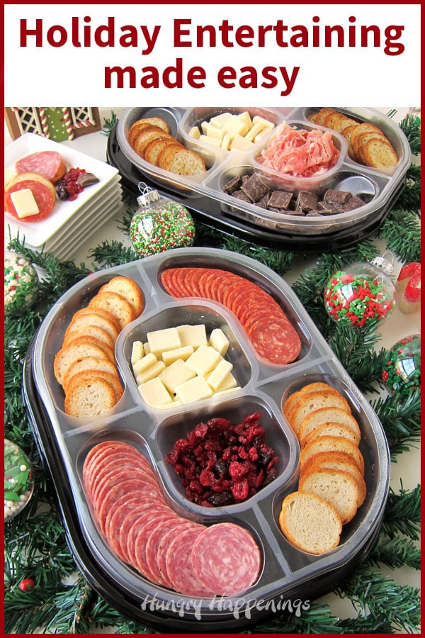 This holiday season, forget about stressing over the food, instead serve Hillshire Farms Social Platters. Each ready-to-serve tray features fresh deli meat, cheese, toasted rounds, and a sweet treat.