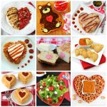 Fun Valentine's Day Dinner Recipes including a Teddy Bear Taco Tart, Enchilada Hearts, Calzone Hearts, and Mozzarella Heart Pastries.