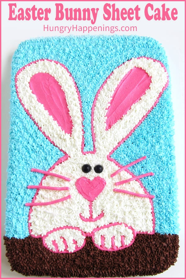 Celebrate Easter with a cute Easter Bunny Cake