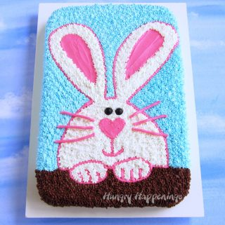 Easter Bunny Sheet Cake Recipe image